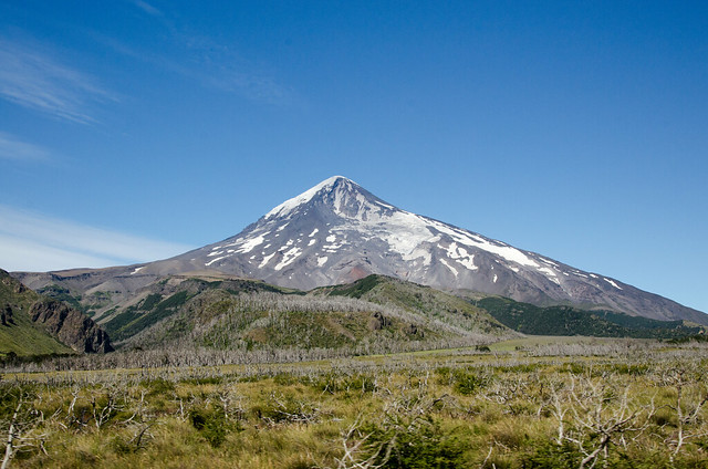Lanin Volcano on the border between Argentina and Chile