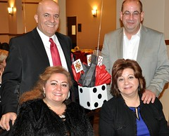 Mike Aoun with his wife Gail and their friends.