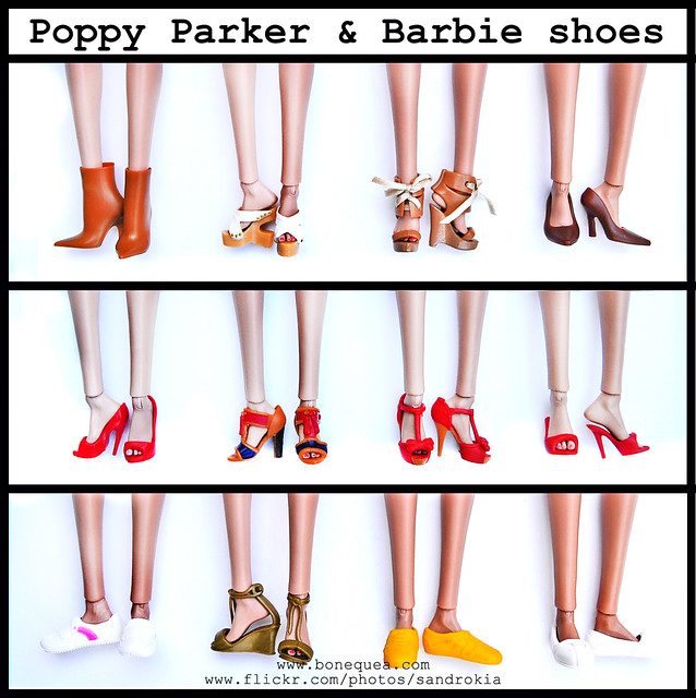 Poppy Parker & Barbie shoes