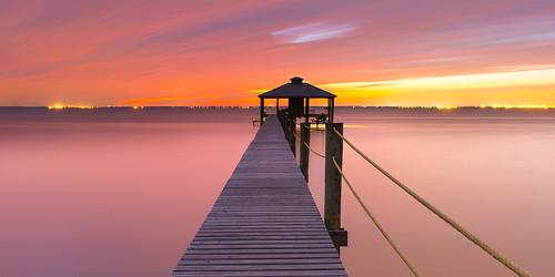 longexposure sunset pier al ngc alabama mobilebay