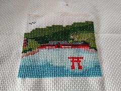 Itsukushima cross-stitch #souvenir #stitchedbymom