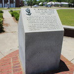 Wesley Ball Memorial Park marker Proverbs 22 1