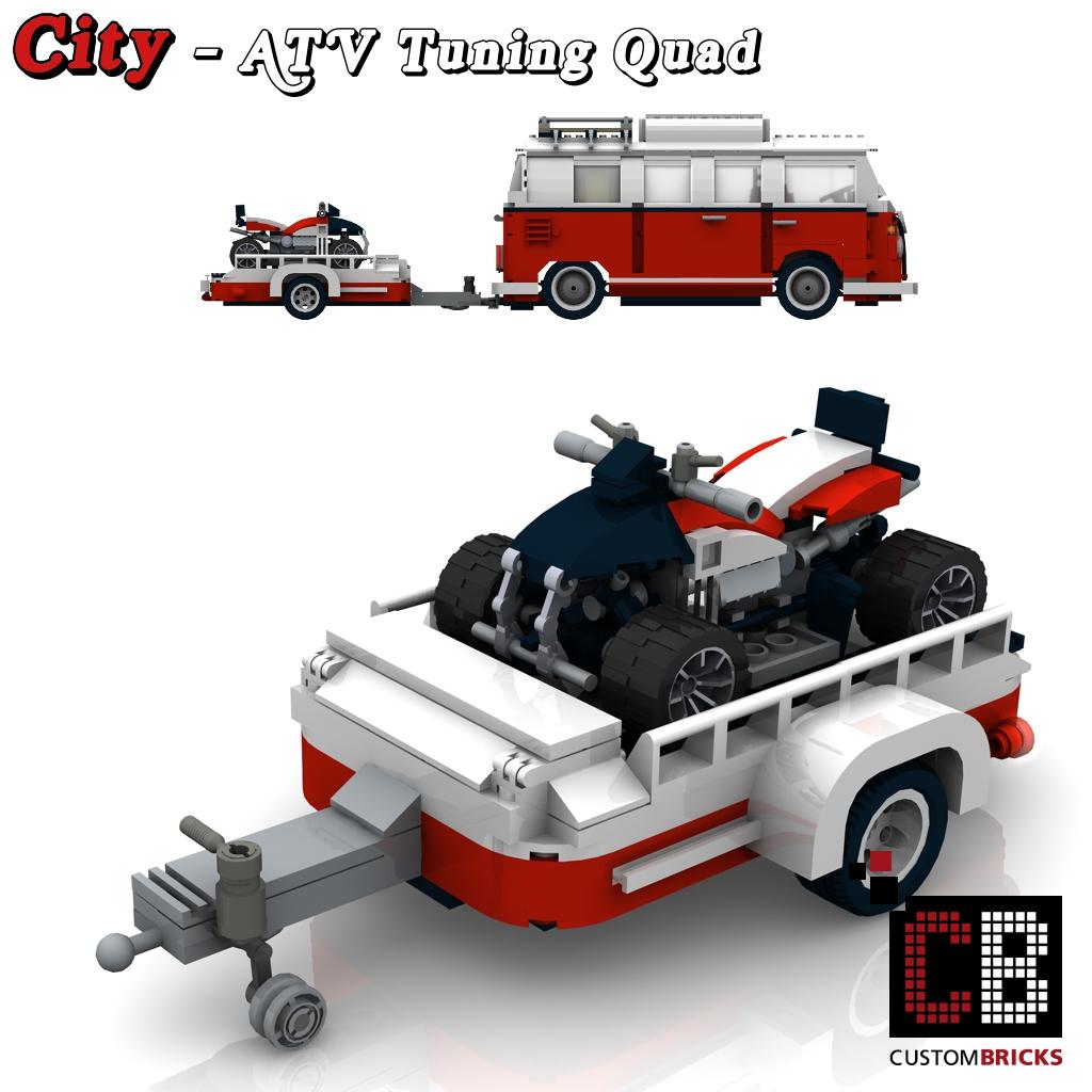 LEGO Custom VW T1 Bus ATV Tuning Quad 10220 CB0   The Custom