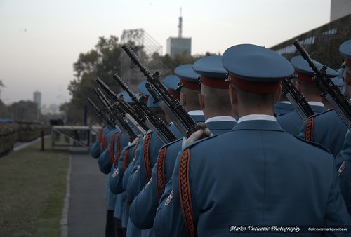 Military Parade Belgrade 2014 - Serbian Soldiers with Russian Knights - The Swifts | by markovucicevic