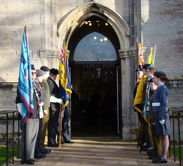 Remembrance Day Service All Saints Church Oakham 2012 Leicestershire Police Dr Laurence Howard JP PhD, as Her Majesty's Lord Lieutenant for Rutland Army cadets Air Training Corps Royal British Legion  (2)