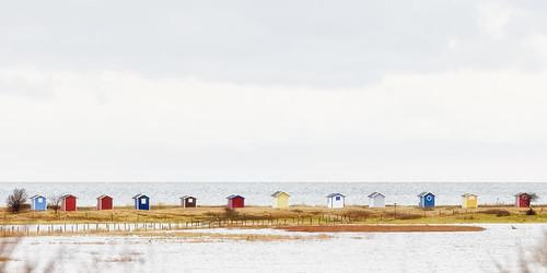 beach coast skåne sweden beachhuts skanör badstugor