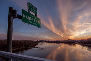 Sunset at the Chouteau Bridge | by Vincent Parsons