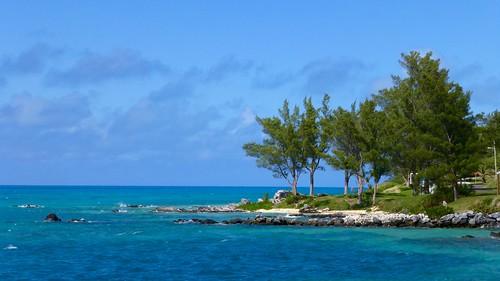 blue sea seascape landscape coast rocks coastal bermuda