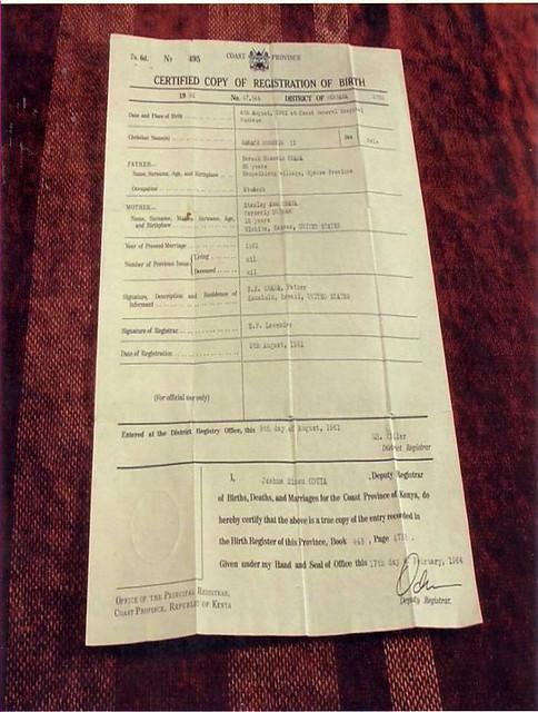obamas kenyan birth certificate