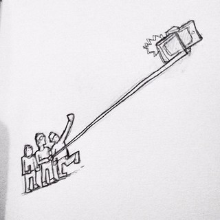 They are everywhere and look really stupid!!!!! #sketch #selfystick. | by Tom Cardo-Moreno