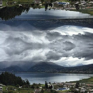 San Pablo #lake effect made with #layout app by #instagram #iOS only #Ecuador | by Omar Grijalva graphic design