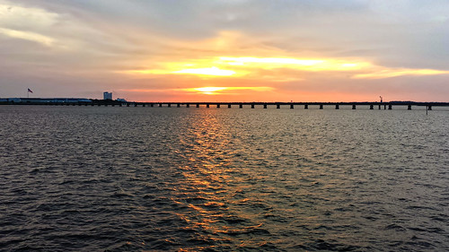 bridge sunset mississippi unitedstates samsung smartphone coastal biloxi android waterscape gulfcoast galaxys4 ilobsterit