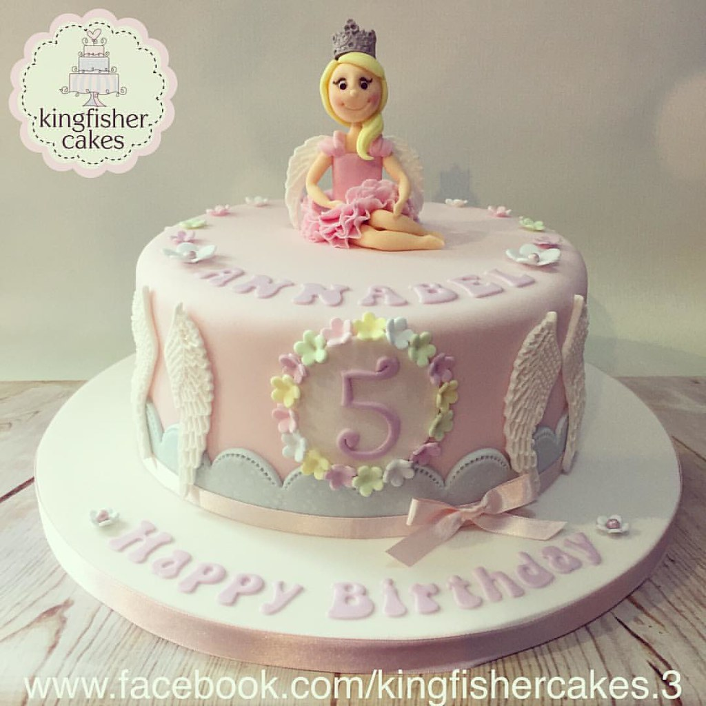 Surprising Last Weeks Pretty Little Fairy Themed Birthday Cake Cute Flickr Personalised Birthday Cards Sponlily Jamesorg