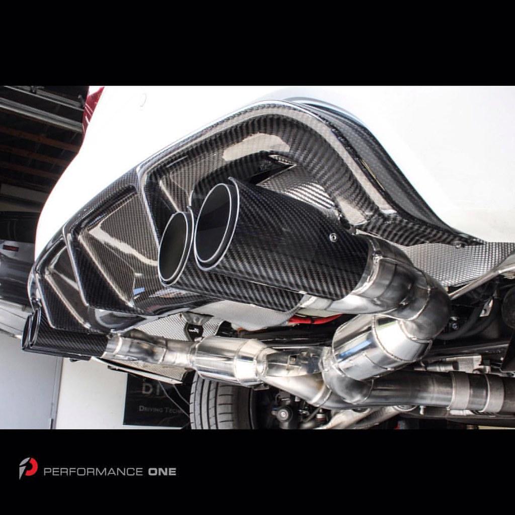 Eisenmann Race Performance Exhaust w/ 4x90mm Carbon Fiber & Matte