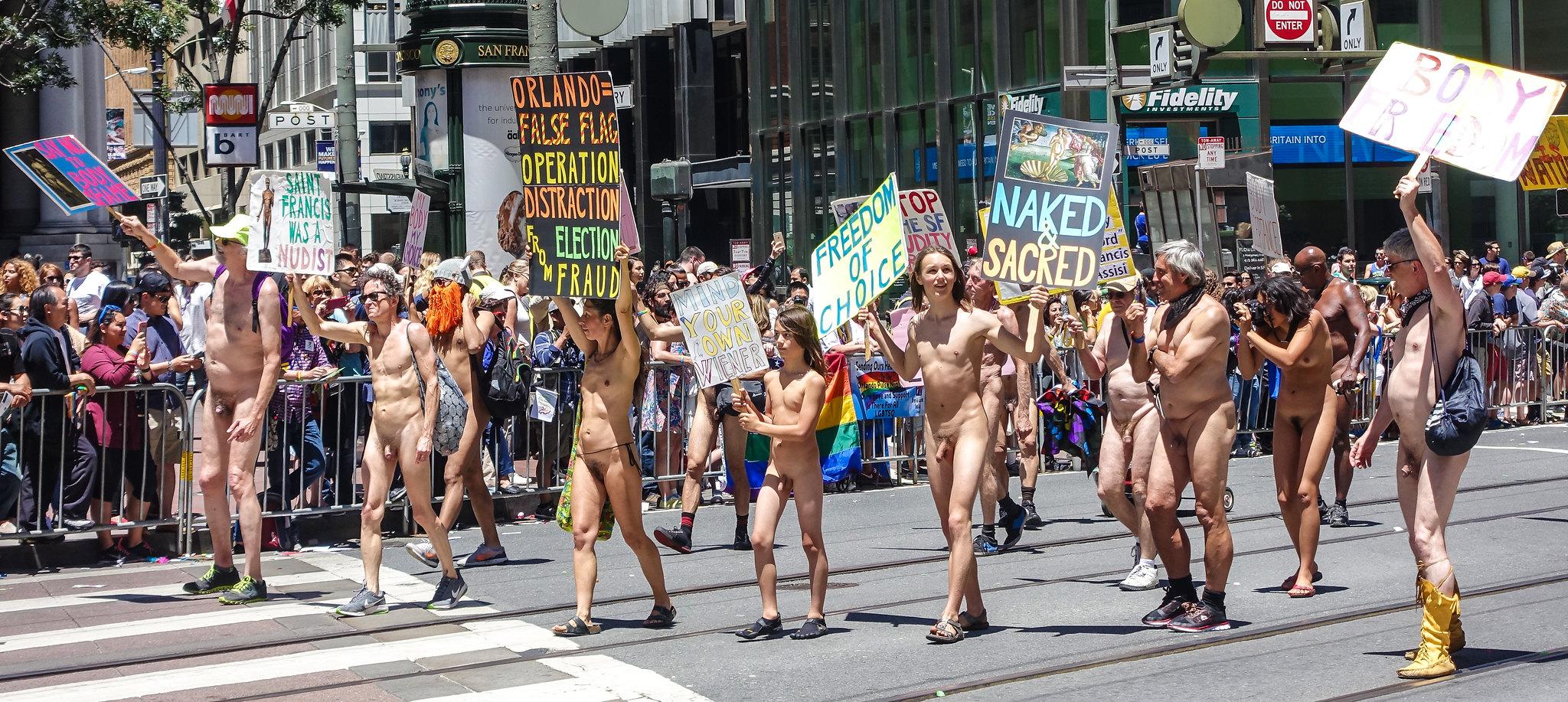 Walking nude in public hot porn