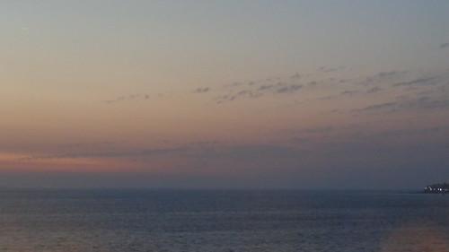 asia india bombay mumbai sun sunset water sea ocean sky clouds cloud