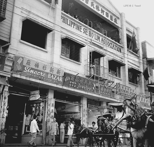 Manila China Town, 715 Ongpin Street, Binondo, Manila, Philippines, 1949