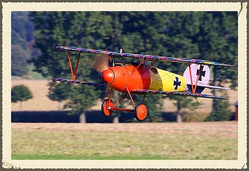 Albatros DVa - Modell im Flug