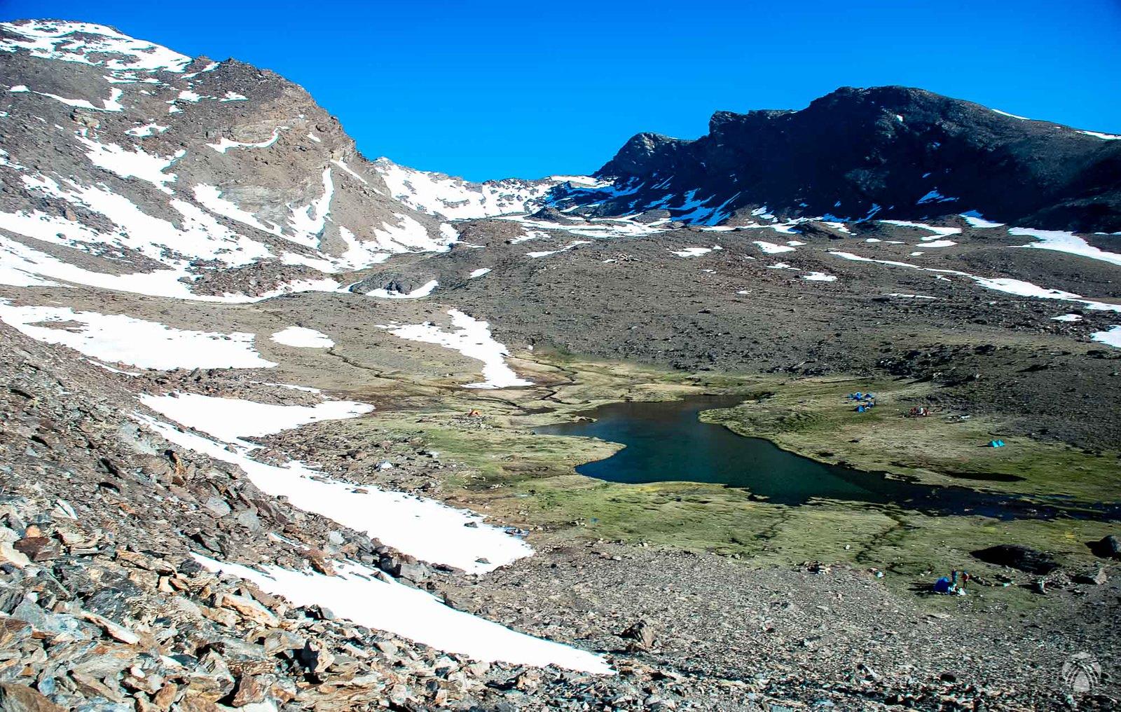 Cañada de Siete Lagunas en la cuesta del resuello