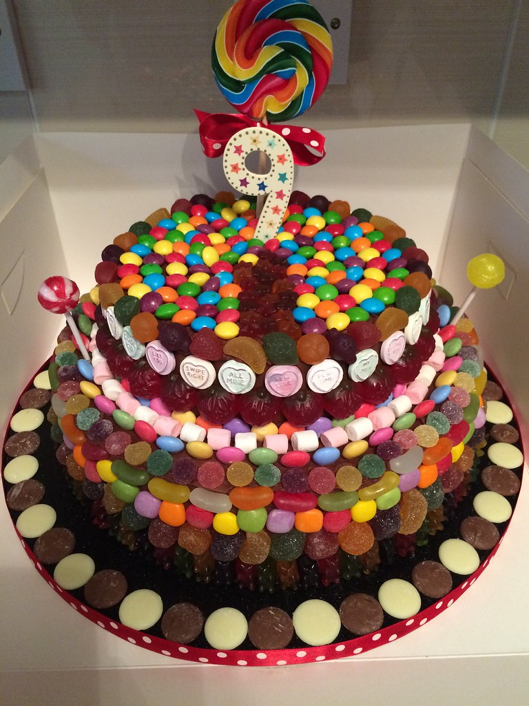 By Pink Strawberry Cake Company 2 Tier Candy Theme Chocolate Birthday