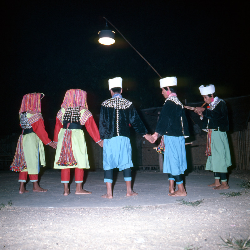 hill tribe dance, Chiang Mai, Thailand - 1978