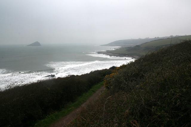 The coast path heading east from Wembury