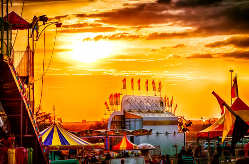 sunset austin evening texas unitedstates dusk fair amusementpark rides hdr staroftexasfairandrodeo