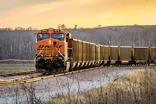railroad sunset sky weather clouds train day cloudy farm missouri weston partlycloudy