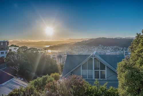 Sun Up, Kelburn, New Zealand