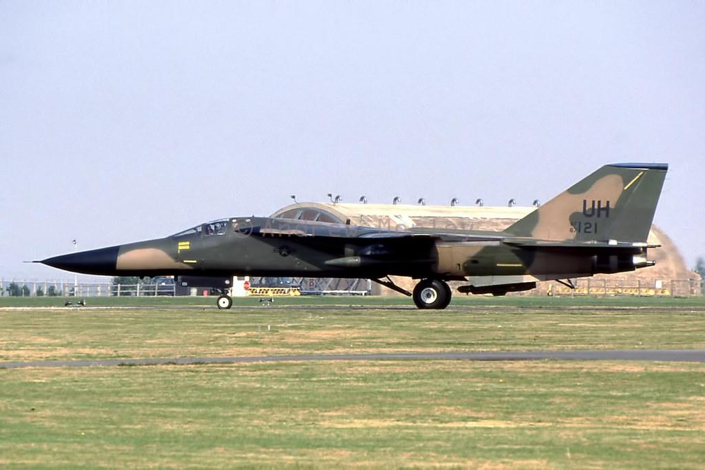USAF F-111E at Upper Heyford 1991.
