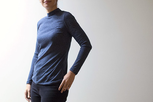 Grainline Lark and Japanese turtleneck | by BOMBAZINE *