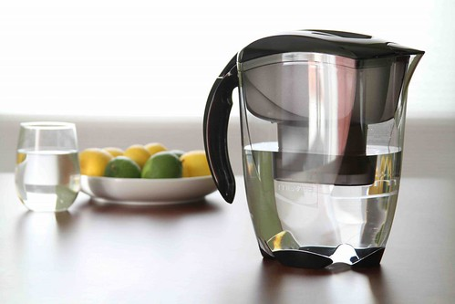 MAVEA water filter pitcher on table | by yourbestdigs