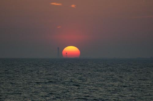 sunset sky usa gulfofmexico water pier nikon wasser unitedstates florida fortwaltonbeach ftwaltonbeach fwb okaloosacounty d5000 fisherbray okaloosaislandpier