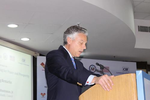 Gov. Jon Huntsman Jr, Atlantic Council Chairman, opens the India-US 2015 conference