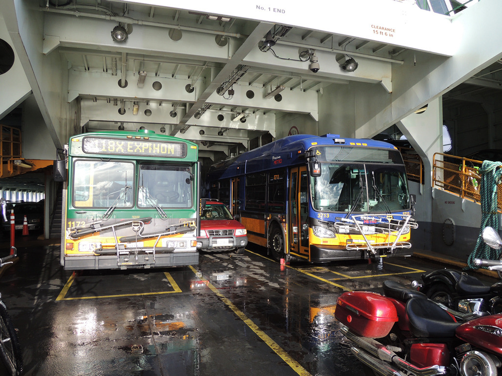 1173 (118X) and 3713 (119X) onboard the MV Cathlamet