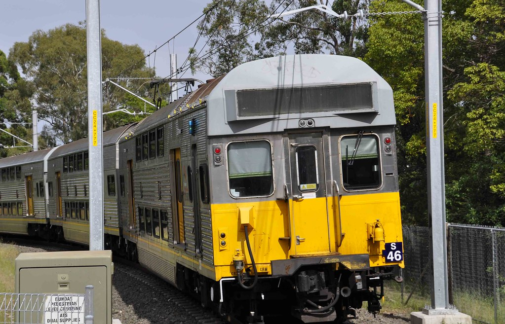 Sydney Trains - T6 The Carlingford Line - S-set S46 departs Dundas for Rydalmere by John Cowper