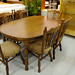 Extending table with chairs