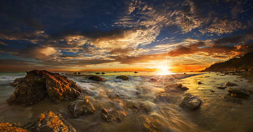 sunset sky beach clouds waves dramaticclouds dramaticskies malibucalifornia elmatadorbeach