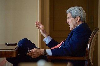 Secretary Kerry Speaks With Top Advisers Before Resuming Iranian Nuclear Negotiations in Switzerland