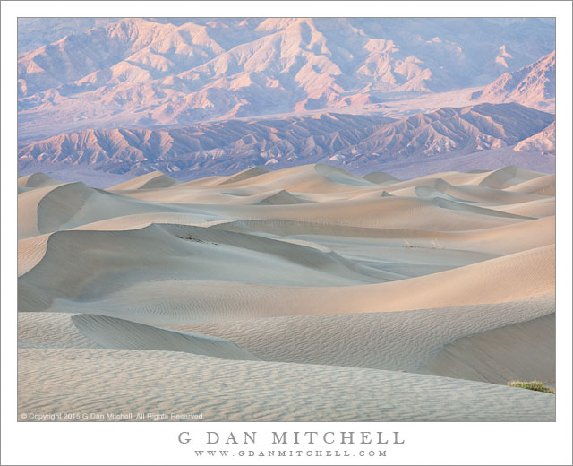 Dunes and Mountains, Evening