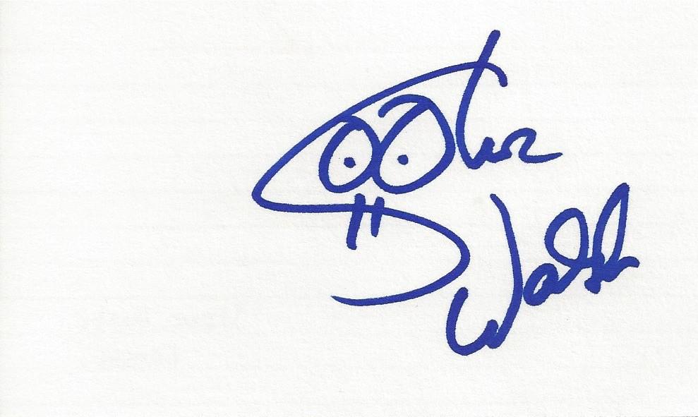 Autographed Steve Walsh 3x5 Card - Kansas | Joe Merchant