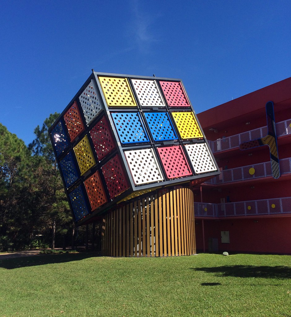 Orlando - Disney World - Disney's Pop Century Resort - Giant Rubik's Cube