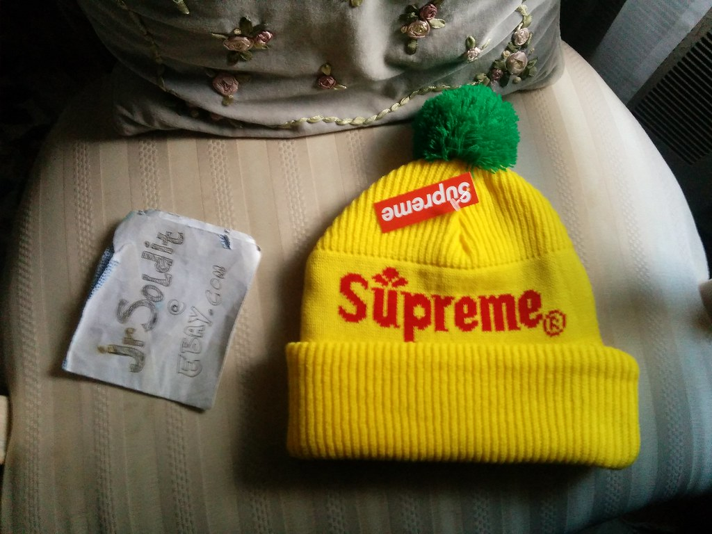 99d2292646e ... Supreme Citrus Beanie (Yellow) Fall Winter 2015 Box Logo NYC ONE SIZE