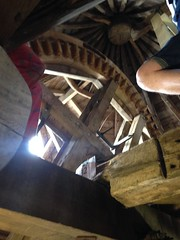 Inside Wheatley windmill on an open day in June 2015
