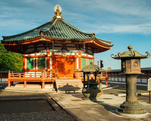 sunset japan temple library jp chiba shinto narita chibaken naritashi fujixpro1 naritasansenshoji bukkyolibrary