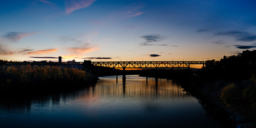 sunset panorama edmonton pano northsaskatchewanriver highlevelbridge day278 fujifortiasp walterdalebridge 105streetbridge vsco day278365 x100s vscofilm04 365the2015edition 3652015 5oct15