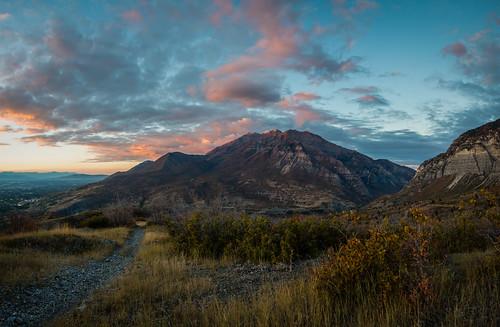 sunset panorama cloud fall nature utah october hiking naturallight timpanogos rockymountain blueskies cascade provo megasize megapixel squawpeak changingleaves provocanyon utahcounty