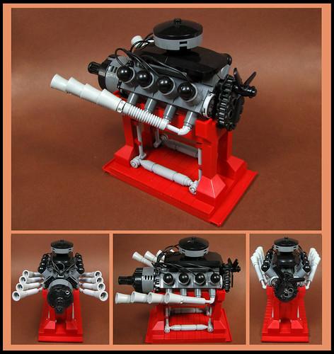 Oddball V8 kerosene engine