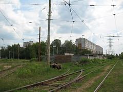 Nizniy Novgorod tram track mainteniance facility. Sotsgorod-1 loop.