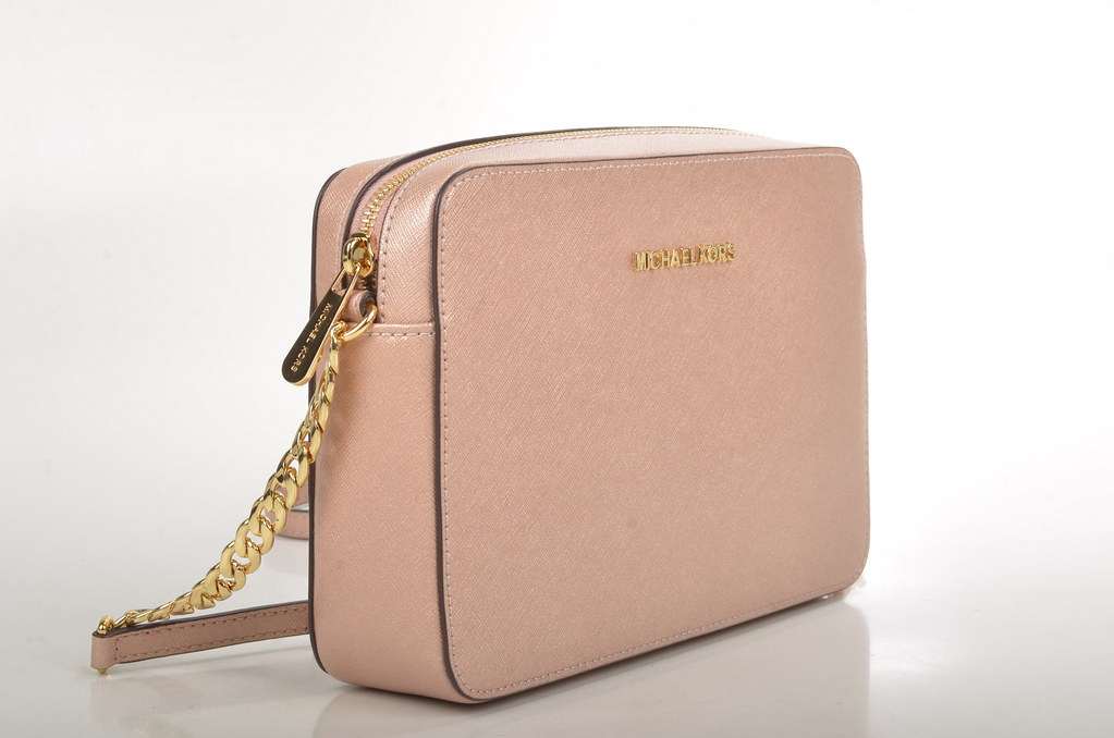 8c073be3790e ... Michael Kors Jet Set Travel LG EW Crossbody 32F4GTVC3M Kalbsleder rosa  (ballet) (2